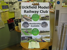 Club Information in Civic Centre Foyer